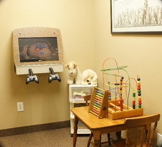 gameroom at Dr. Thames office